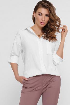 блуза Андреа д/р. Цвет: молоко