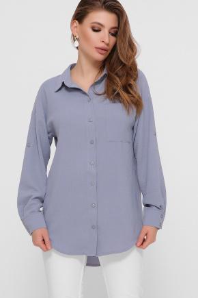 блуза Андреа д/р. Цвет: св.джинс