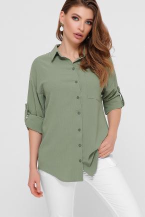 блуза Андреа д/р. Цвет: св.хаки
