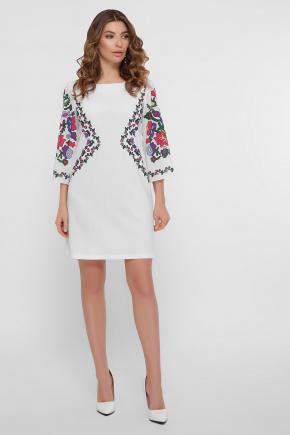 Цветочный орнамент платье Кирма д/р. Цвет: белый