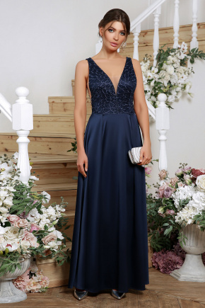 платье Мэйси б/р. Цвет: синий