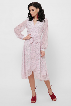 платье Алеста д/р. Цвет: розовый-цветы м.