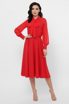 платье Аля-1д/р. Цвет: красный