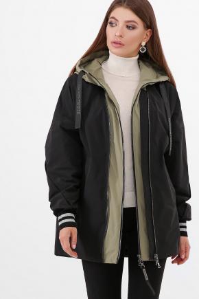 Куртка 2103. Цвет: 701/404-черный-св.хаки