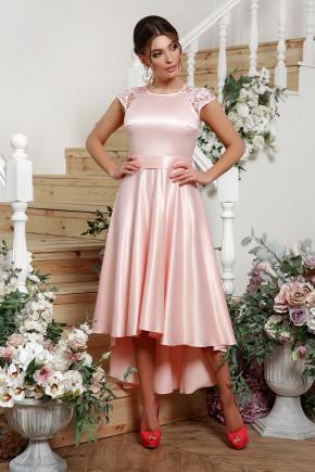 платье Нинель к/р. Цвет: св. розовый
