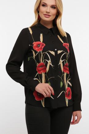 Маки Блуза Лекса-Б КШ д/р. Цвет: черный