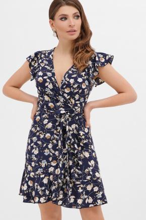 платье София б/р. Цвет: синий-цветы