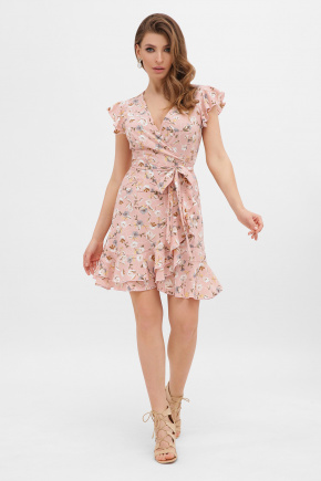 платье София б/р. Цвет: персик-цветы