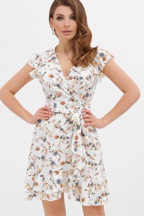 платье София б/р. Цвет: молоко-цветы