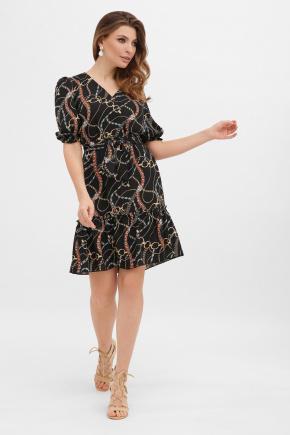 платье Мальвина к/р. Цвет: цепи-украшения