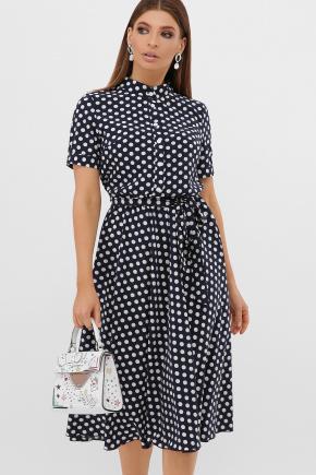 платье Изольда-Б к/р. Цвет: синий-белый горох с.