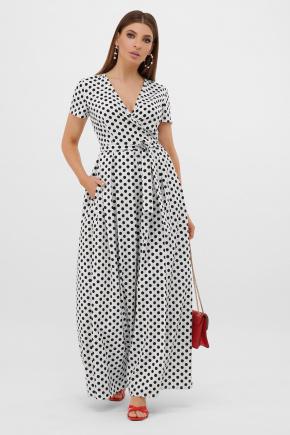 платье Шайни к/р. Цвет: молоко-черный горох с.