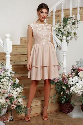 платье Лилия б/р. Цвет: бежевый