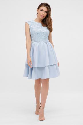 Платье Лилия б/р. Цвет: голубой