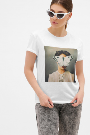 Бабочка футболка Boy-2. Цвет: белый