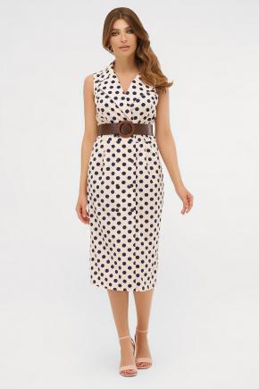 платье Нарина б/р. Цвет: персик-синий горох