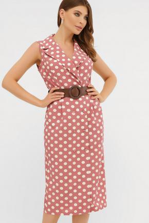 платье Нарина б/р. Цвет: т.розовый-белый горох