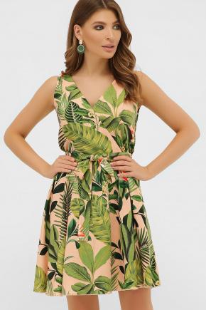 сарафан Анета. Цвет: персик-Тропический лист