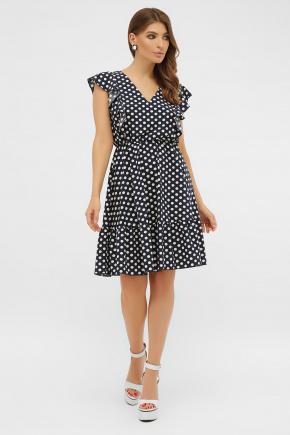 платье Надина б/р. Цвет: синий-белый горох с.