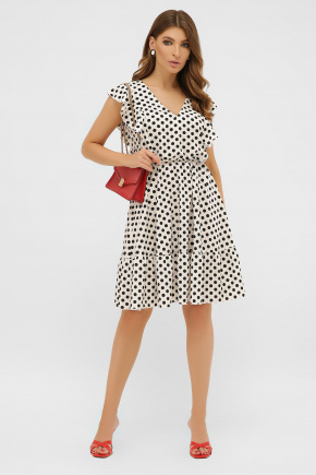 платье Надина б/р. Цвет: молоко-черный горох с.