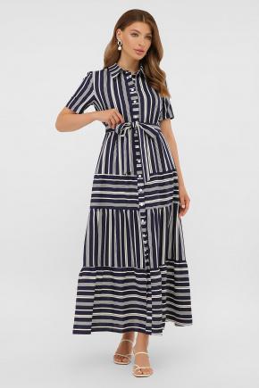 платье Дженни к/р. Цвет: синий-белая полоса1