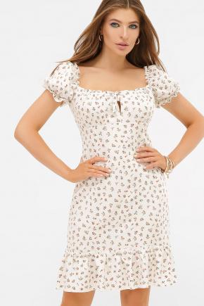 платье Даная к/р. Цвет: белый-м.цветы