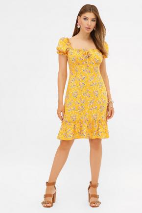 платье Даная к/р. Цвет: желтый-м.букет