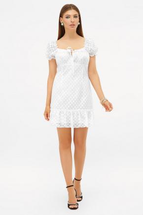 платье Даина к/р. Цвет: белый горох