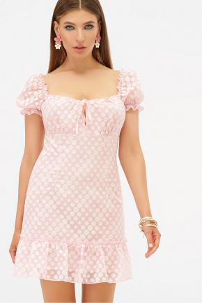 платье Даина к/р. Цвет: розовый горох