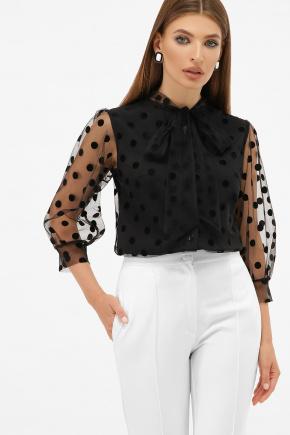 блуза Ладонна 3/4. Цвет: черный