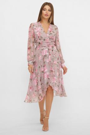 платье Алеста д/р. Цвет: капучино-розы розов.