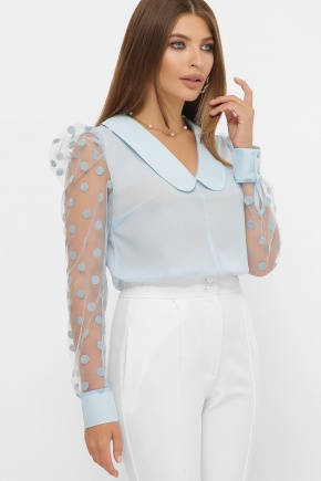 блуза Сесиль д/р. Цвет: голубой