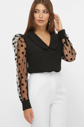 блуза Сесиль д/р. Цвет: черный