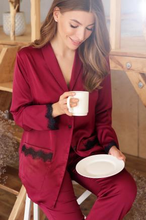 Рубашка Долорес д/р. Цвет: бордо