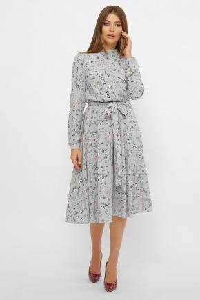 платье Изольда д/р. Цвет: серый-цветочки