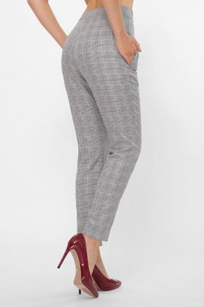 брюки Бенжи К. Цвет: клетка серый-розовый