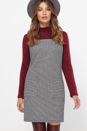 платье Дилора д/р. Цвет: букле полоса-бордо