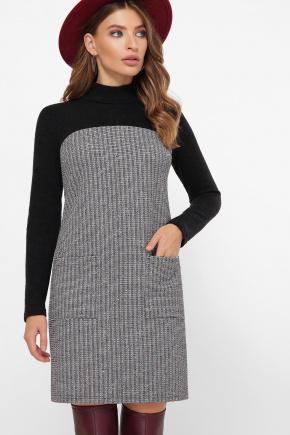 платье Дилора д/р. Цвет: букле полоса-черный