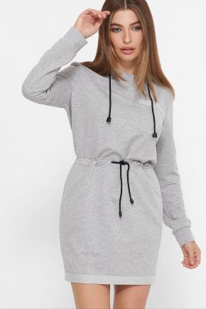 платье Кити д/р. Цвет: серый меланж