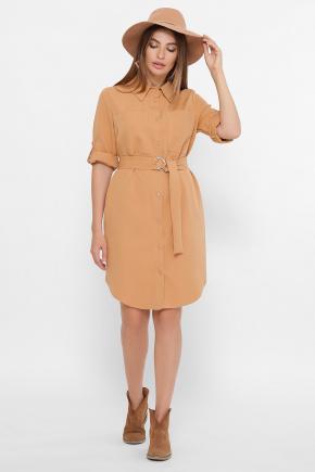 платье Лузана 3/4. Цвет: песочный