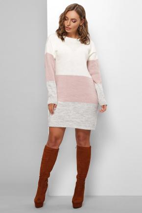 Платье 179. Цвет: молоко