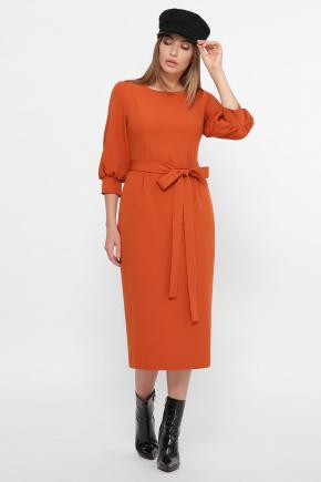 Платье Лэтти 3/4. Цвет: терракот