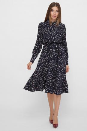 платье Дарсия д/р. Цвет: синий-букетик