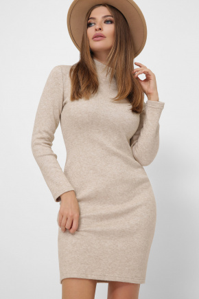 Платье-гольф Алена1 д/р. Цвет: светло бежевый