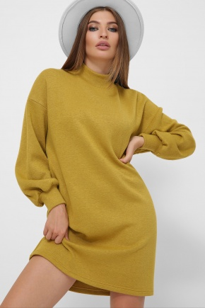 платье Талита д/р. Цвет: горчица