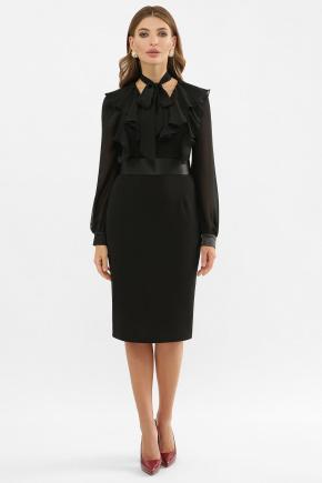 Платье Рания д/р. Цвет: черный
