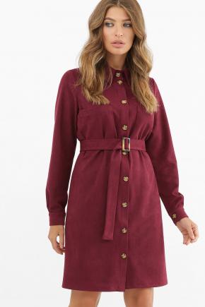платье Реджина д/р. Цвет: бордо