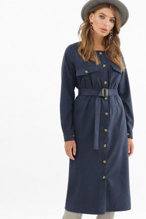 платье Роби д/р. Цвет: синий