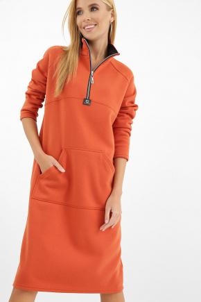 платье Айсин д/р. Цвет: терракот