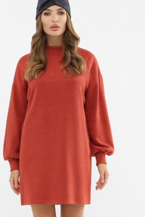 Платье Талита д/р. Цвет: терракот